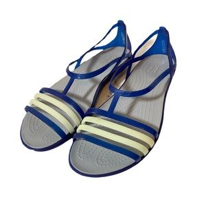 Crocs Iconic Comfort Blue Strappy Sandals